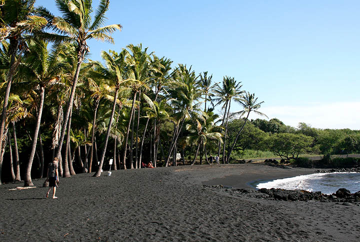 Punaluu Black Sand Beachi