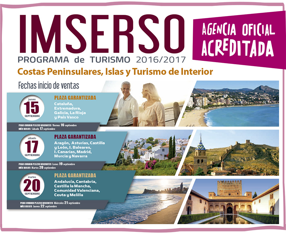 Viajes Para Personas Mayores: Viajes Imserso 2016 / 2017