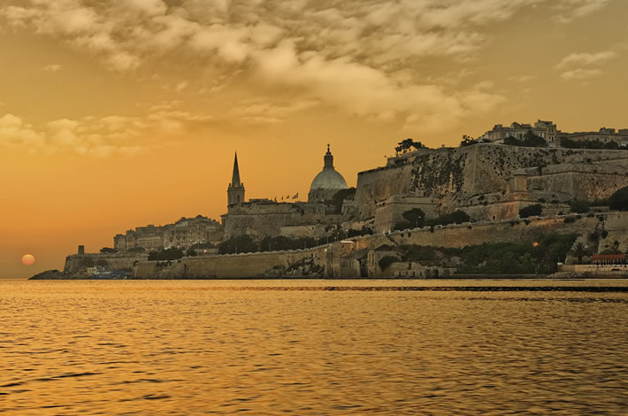 Valletta Coast Sunset