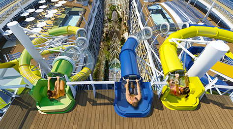 Toboganes en el buque Harmony of the seas